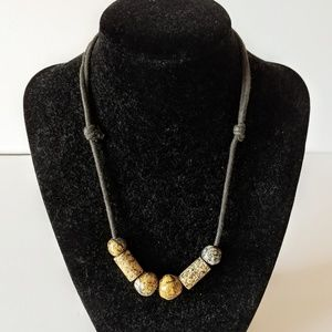 Jewelry - Stone Bead Necklace from Mexico Adjustable Length